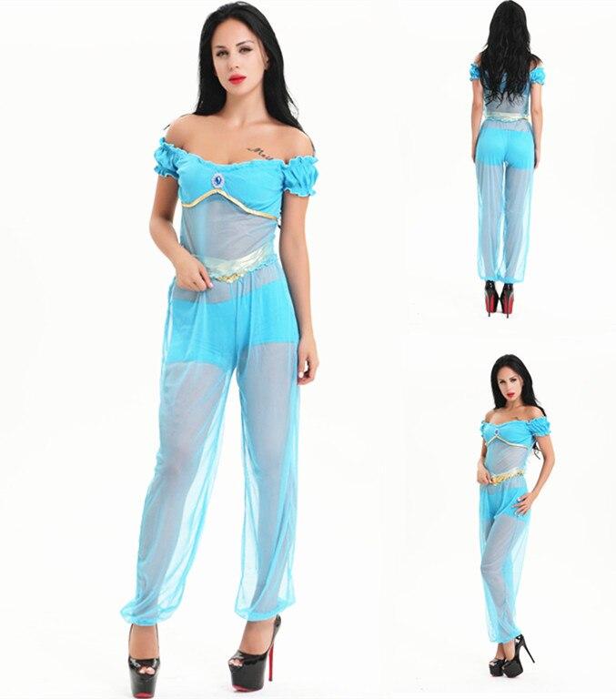ᐊEnvío Gratis árabe princesa jazmín traje de las mujeres de Aladdin ...