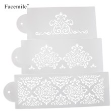 2016 Hot Sell 3Pcs/Set Crown Bakeware Fondant Cake Stencil Mold Decorating Tools For Wedding&Christmas 52059 Gift
