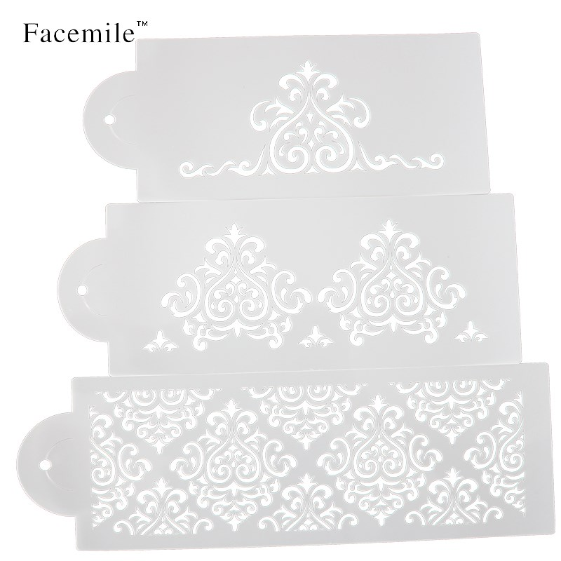 2016 Hot Sell 3Pcs/Set Crown Bakeware <font><b>Fondant</b></font> <font><b>Cake</b></font> Stencil Mold <font><b>Decorating</b></font> <font><b>Tools</b></font> For Wedding&Christmas 52059 Gift image