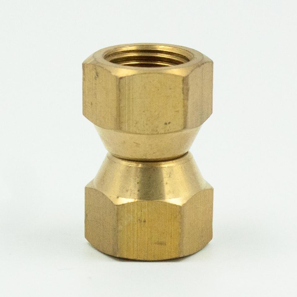 SAE 45 Degree Flare,5//16 Tube O.D GaoLing 4 pcs Brass Tube Fitting Short Flare Nut