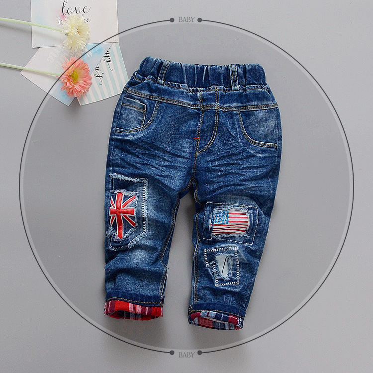 Baby Jeans Trousers Infant Boys Kids 2-5-Years-Old Fashion Autumn Spring B002 Good-Quality