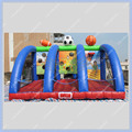 High Quality Inflatable Ball Game Free Shipping Easy Stall Funny and Exciting 3 Sports Game Football Basketball Rugby Game Hoop