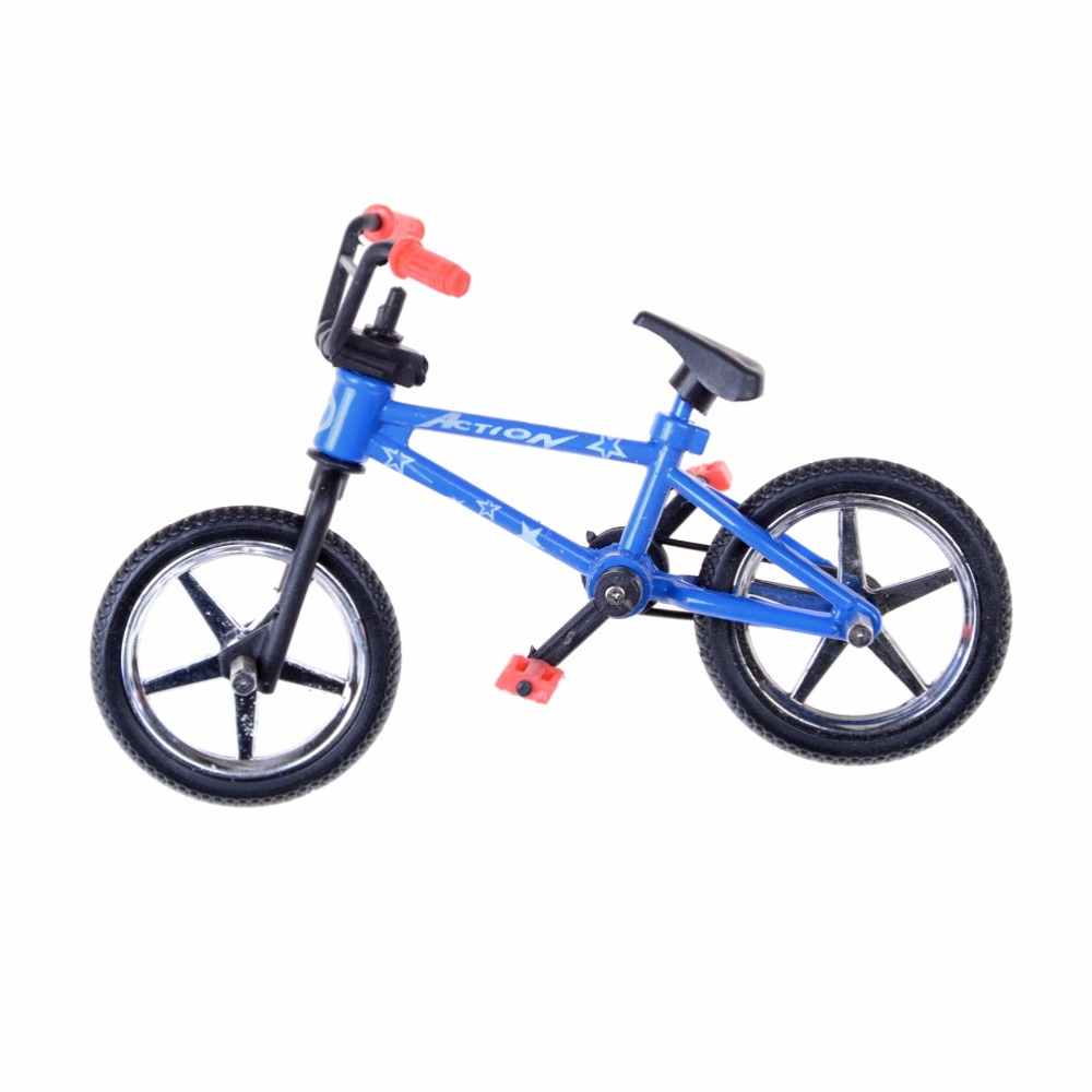 Color Randmonly Alloy <font><b>Mini</b></font> Finger <font><b>Bikes</b></font> Boy <font><b>Toy</b></font> Creative Game <font><b>BMX</b></font> <font><b>Bike</b></font> <font><b>Toys</b></font> Model Bicycle Fixie with Spare Tire Tools Gift image