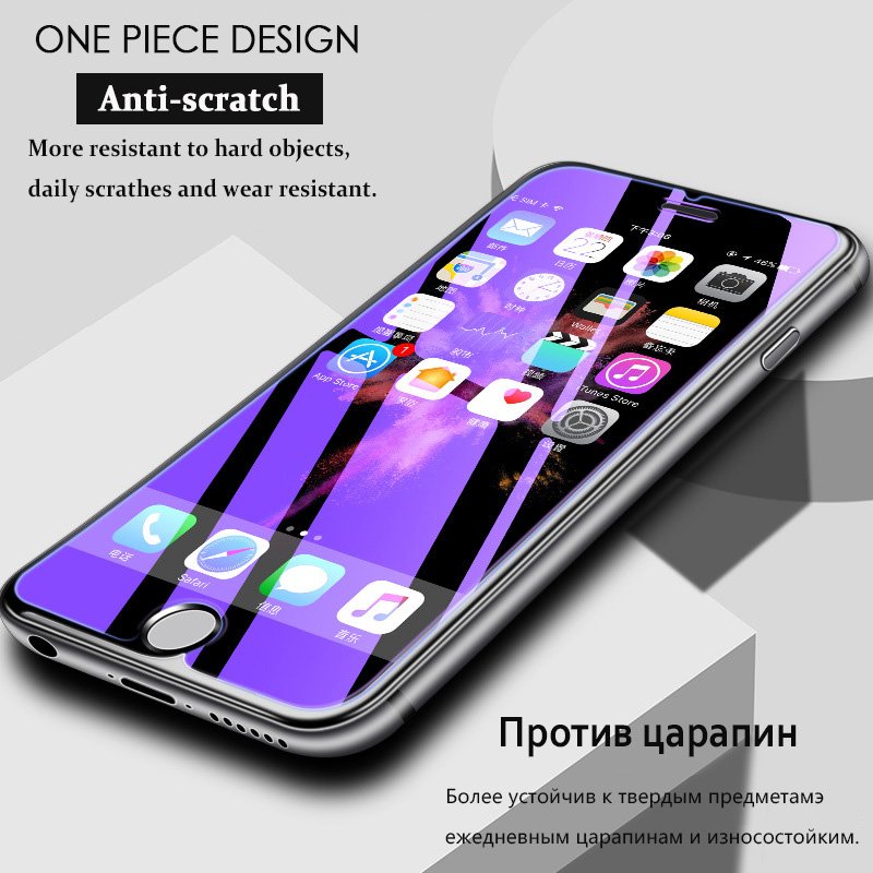 KIP71384_5_Anti Blue Light Tempered Glass for iPhone 6 6S 7 8 Plus XS XR XS Max 9H 2.5D Protective Film