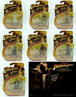 pvc figure 3.75 inch 1:18 movable joint IndianaJones figure 7 pcs/set