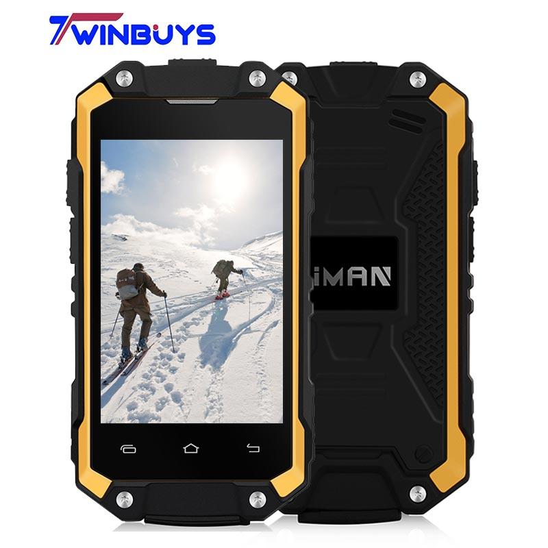 bilder für Original IMAN X2 Wasserdicht Staubdicht Handy IP65 1 GB + 8 GB Dual Sim MT6580 Quad Core Stoßfest 2,45 Zoll GPS OTG 3G WCDMA