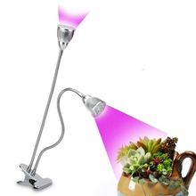 5W 10W  LED Clip Desk Grow Lamp Growing Lights with 360 Degree Flexible Gooseneck for Office Home Indoor Greenhouse Plant