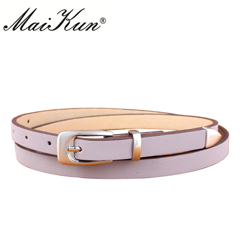 MaiKun Elegant Wedding Dress Belts For Women Luxury Brand Designer Female Belts High Quality PU Leather Pin Buckle Waistband