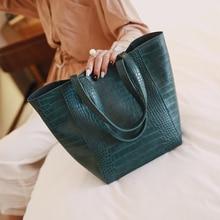 TuLaduo Brand Women Handbag New Crocodile Leather Retro Female Women Bag Large Capacity Shoulder Bags Designer Casual Tote Bag