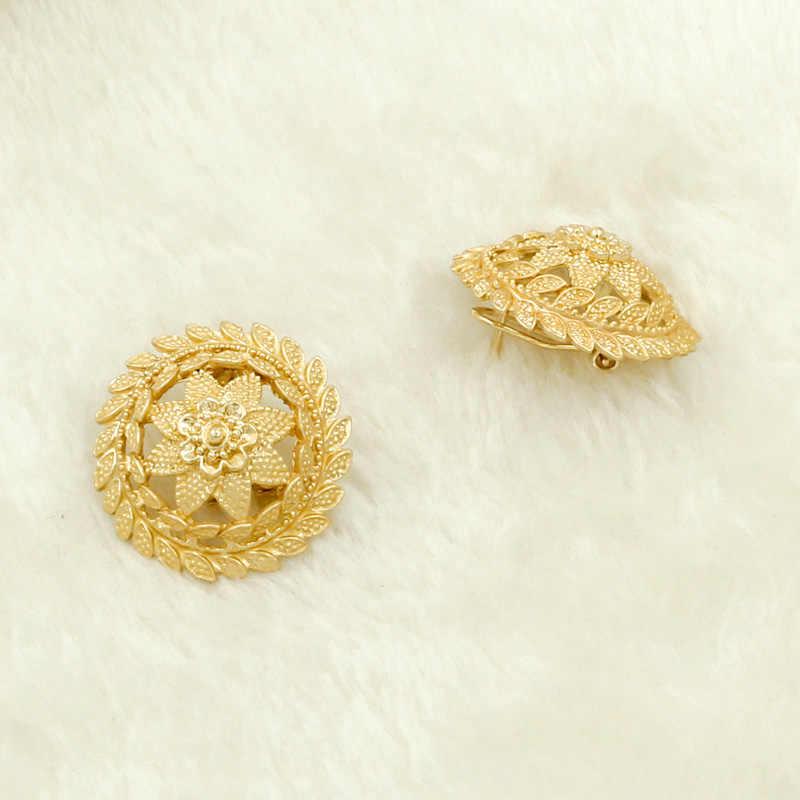 Liffly африканские комплекты украшений для женщин Дубай золотого цвета ожерелье серьги набор украшений Свадебные нигерийские украшения для свадебного наряда