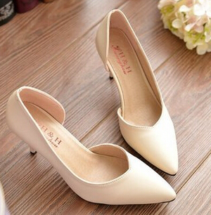 Sexy thin high heels woman spring summer pumps shoes pointed toe DS177 female ladies office work wedding pumps beige black