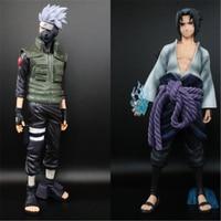 27cm Anime action figure Naruto Collectible Action Figures Uchiha Sasuke Kakashi PVC Model Toys gifts for boys home decoration
