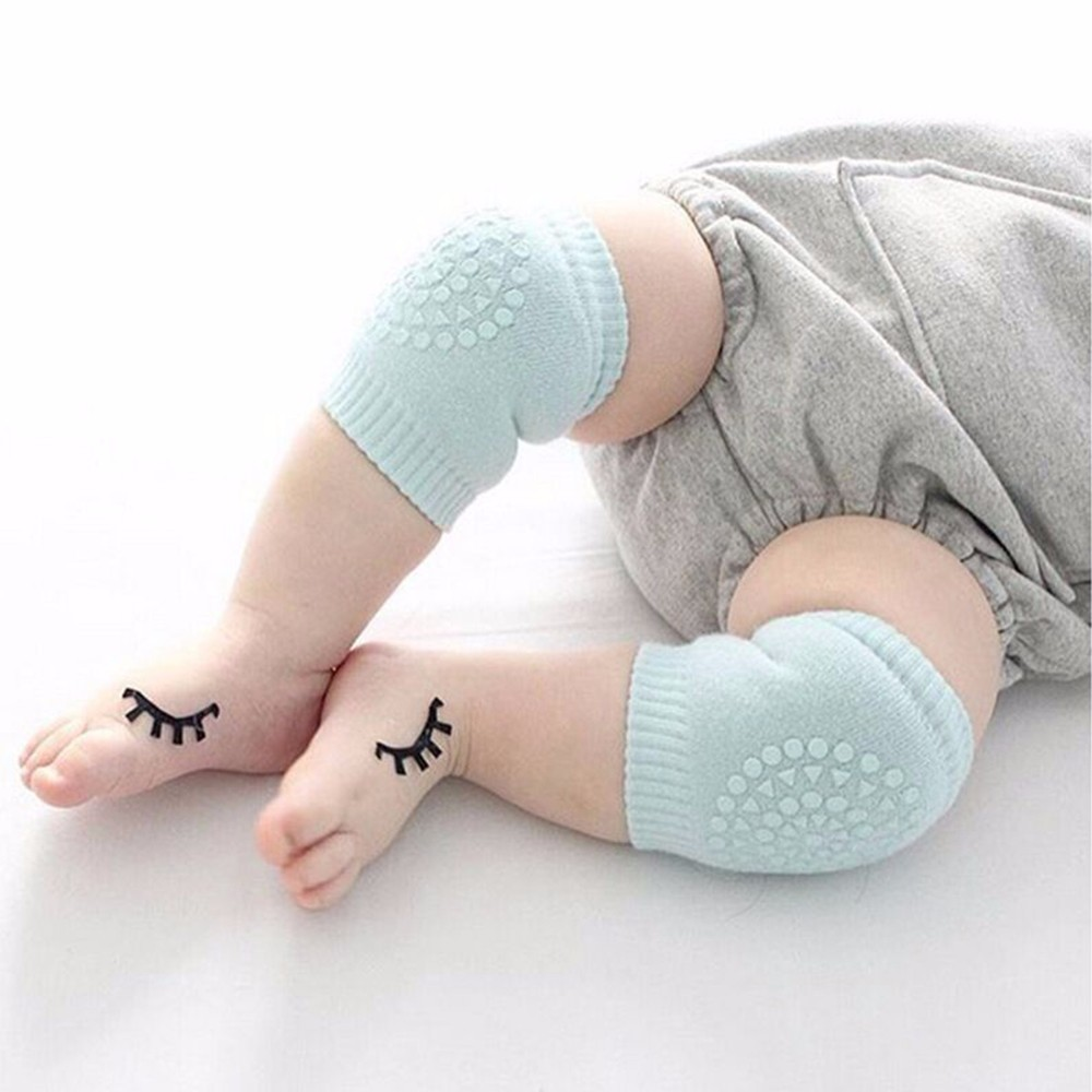 1 Pair Baby Knee Pads Kids Safety Crawling Socks Cushion Protect Baby Knee Cap Cotton Leg Warmers Socks For Kids 1-3 Years Old
