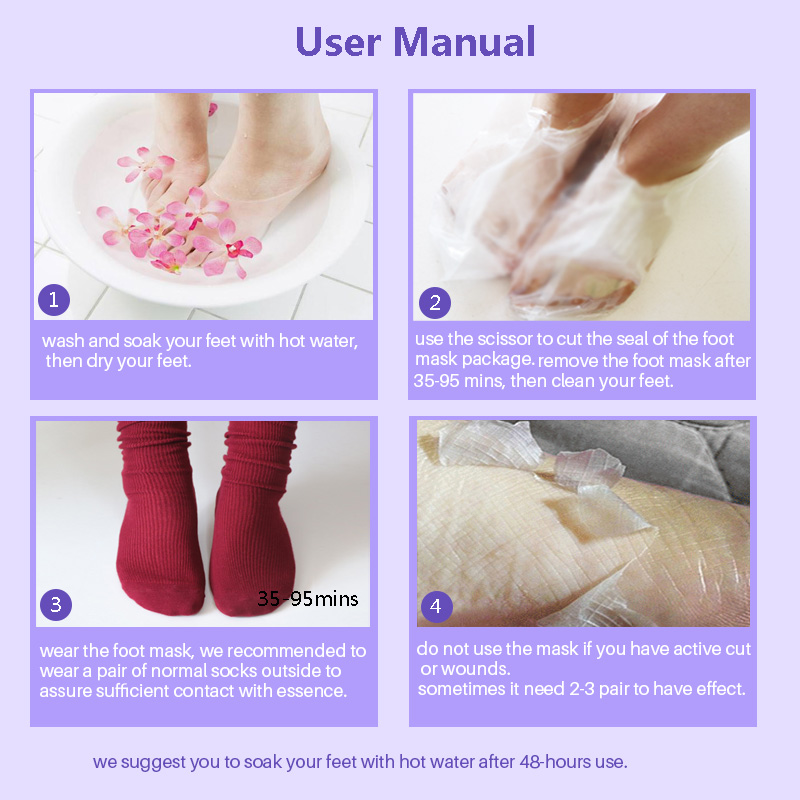 Putimi 1Pair 2Pcs Baby Foot Mask for Legs Socks for Pedicure Exfoliating Socks Remove Dead Skin Cuticles Cracked Heel Feet Mask in Feet from Beauty Health