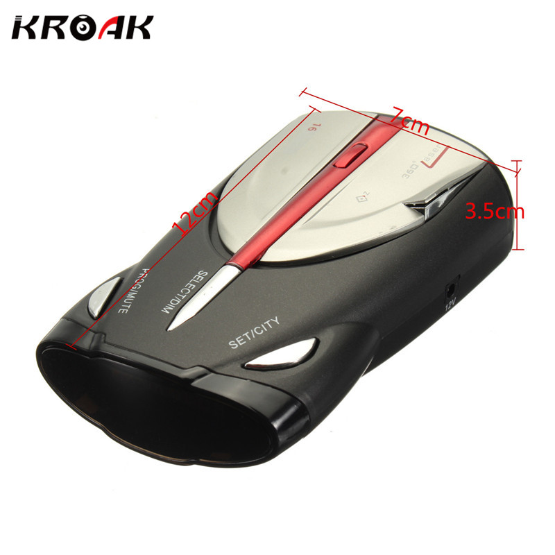 XRS 9880 360 Degree font b Car b font Radar Detector 16 For Band Russia English