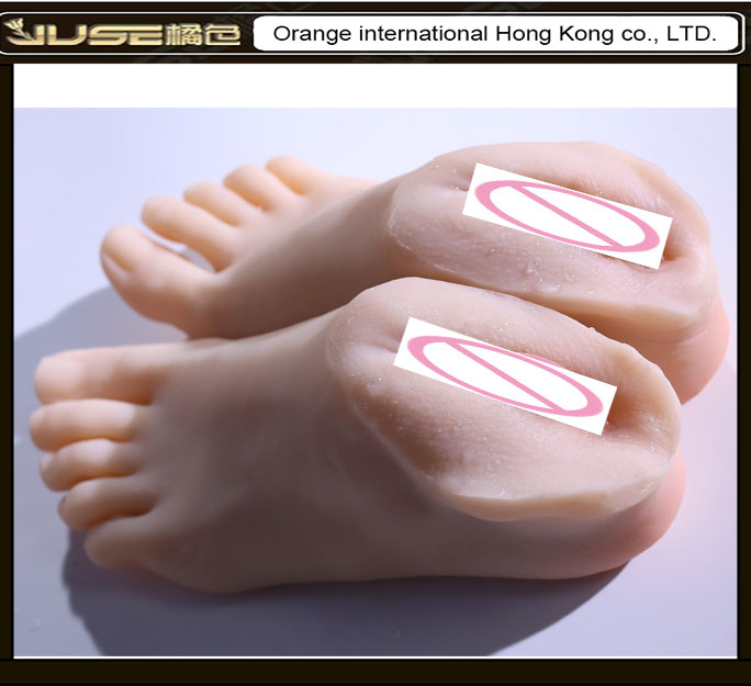 Foot Fetish Artificial Vagina font b Sex b font Toys for Men Solid Silicone Vagina Feet