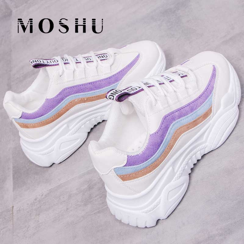 Summer Women Platform Chunky Sneaker White Tenis Teminino Mesh Wedges Shoes for Women Vulcanized Shoe Zapatillas Mujer