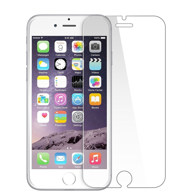 100pcs DHL 9H Tempered Glass for iPhone 6 7 8 X SE 5 Screen Protector Protective