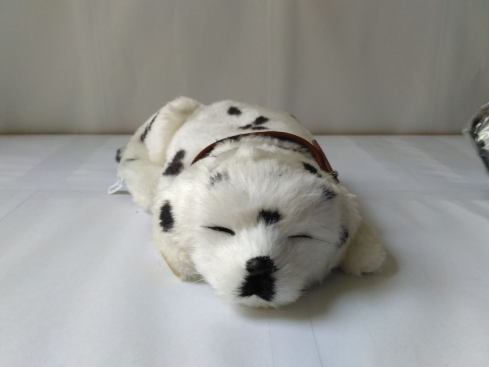 new simulation breathing spots dog toy cute sleeping dog doll gift about 25cm simulation breathing cat model 25x20cm toy lifelike sleeping cat with mat handicraft decoration gift t419