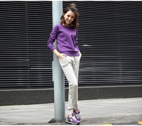 Round neck blank solid color women's sweatshirt ZT1