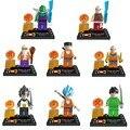 8 pcs Dragon Ball Super Saiyan Goku Vegeta Yamcha Construindo Brinquedos Bloco de Construção Modelo de Educação Toy Kids Presente