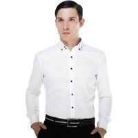 Longo-luva camisa masculina o noivo casado casamento formal vestido branco rosa personalizar plus size mais a camisa do tamanho dos homens \ x27s t \ x2dshirt
