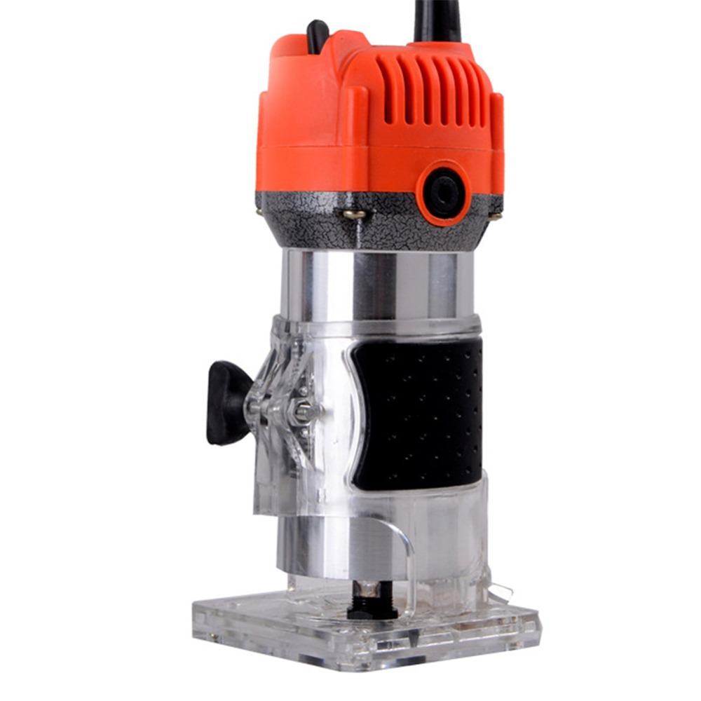 450w 650w Wood Router Trimmer 6.35mm Copper Motor Electric Woodworking Hand Trimmer Power Tool Engraving Machine Wood Diy