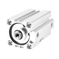 1 Pcs 50mm Bore 80mm Stroke Stainless Steel Pneumatic Air Cylinder SDA50 80