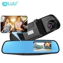 LUU 1080P FHD Автомобильный видеорегистратор Скрытая встроенный Камера 5,0 «ips Зеркало заднего вида цифрового видео Регистраторы Двойной объектив видеокамер