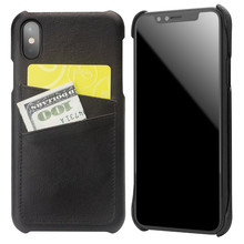 QIALINO Luxury Handmade Back Case for iPhone X Fashion Genuine Leather Card Slot Ultrathin Phone Bag Cover for iPhone X 5.8 inch