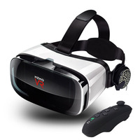 2017 VR Box 3D Virtual Reality Headset Goggles for 4.7 6.2 Smart Phone Video with Game Controller Gamepad Anti dizzy Lenses