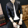 2017 Spring Slim Jackets Men's Youth Casual Clothes Jackets Small Leather Jackets