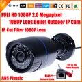 H.264 2-МЕГАПИКСЕЛЬНАЯ Ip-камеры Безопасности Открытый CCTV Full HD 1080 P 2.0 мегапиксельная Камера Пули IP 1080 P Объектив Ик-Фильтр ONVIF 24 LED