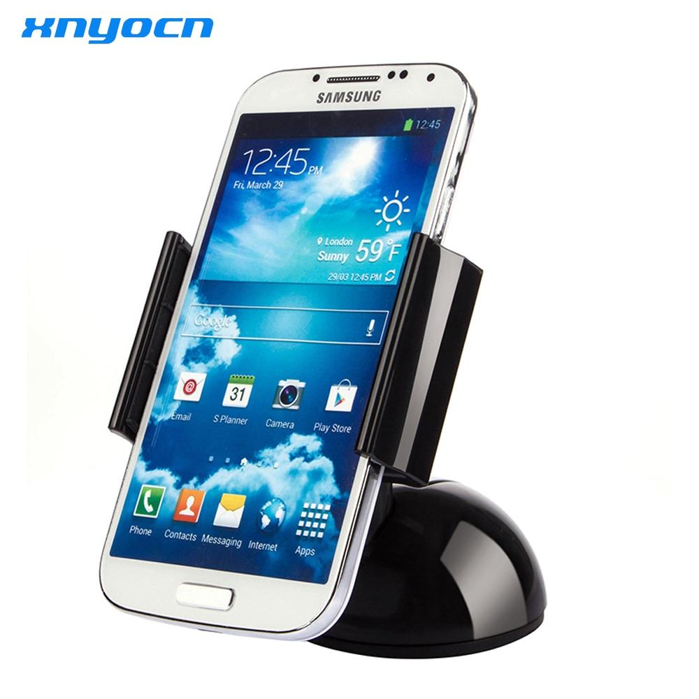 Xnyocn Universal Luxury Car Mount Windshield Cradle Holder Stand 360 - Accesorios y repuestos para celulares