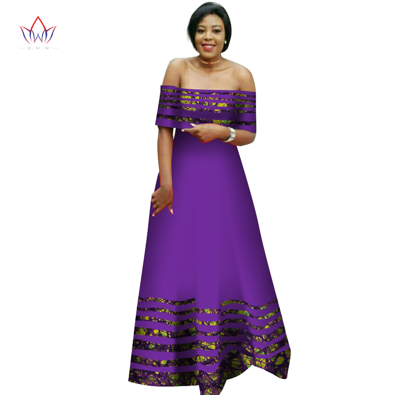 2019 summer traditional african clothing natural women africain Africa Wax Dashiki long party dresses big size 6xl BRW WY2792