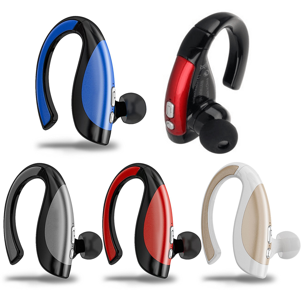 Wireless Bluetooth Single Earphone Stereo Voice Control Phone Call Sweatproof Ear Hook Earpiece Support 2 Bluetooth Device 6 colors mini wireless bluetooth v4 0 earphone q3 in ear stereo voice control earphone call music