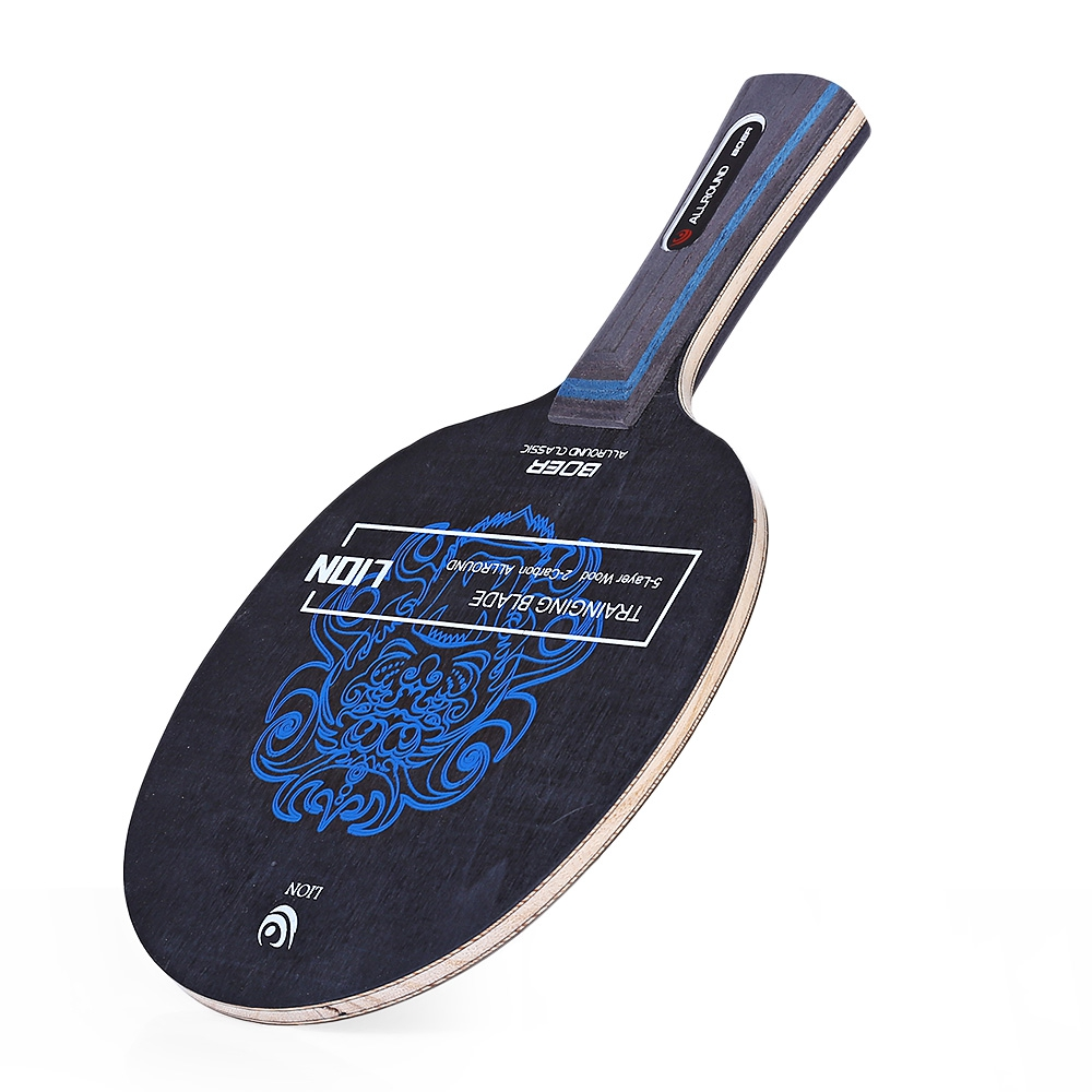 Wood Material Lion Pattern Table Tennis Ping Pong Racket