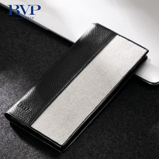 BVP - Trend New Arrival Brand High-end Simple Elegant Designer Cowskin Genuine Leather Men's Long Wallet Purse Clutch Bag J50