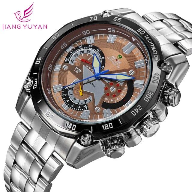 Military watches men 2015 luxury brand WEIDE men watch full stainless steel luminous analog quartz