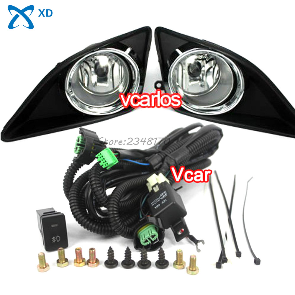 Fog Light Set Car Fog Lights Lamp for Toyota Corolla Altis 2008 + Corolla 2009 (U.S.TYPE) Clear Lens Pair Set with Wiring Kit 12v 55w bulb car fog light lamp for 2003 toyota corolla ip67 free shipping