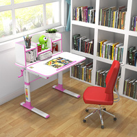 Height and Angle Adjustable Study Table for Children Wide Waterproof Students Writing Desk with Height Scale Computer Desk