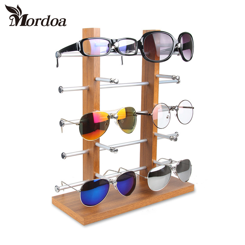 Natural Wood Display Stand for sunglasses Wood Jewelry Rack Display RACKS Eyewear 10 pieces Stand Free Shipping unique natural wood sunglasses