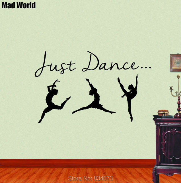 Mad World Girl Dance Just Dance Silhouette Wall Art Stickers Wall Decal  Home DIY Decoration Part 98