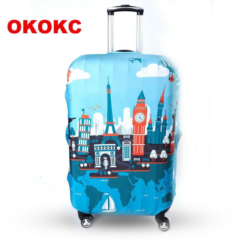 OKOKC旅行荷物保護スーツケースカバー荷物カバーは19〜32インチケース優れた弾性、旅行アクセサリーに適用されます