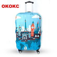 OKOKC Travel bagaż ochronne walizka okładka bagażu pokrywa zastosowanie do 19 ~ 32 calowy Case doskonała elastyczna Akcesoria podróżne tanie tanio W OKOKC Poliester Patchwork Pokrowiec na bagaż T2084 26CM 0 25 kg 20cm Chiny (kontynent)