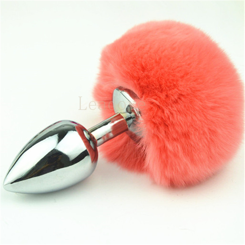 e63e6c0d6 100 pcs lot Medium size Rabbit Tail Metal Anal Plug Faux Bunny Tail Butt  Plug Ass Toy Adult Sex Toys Products for Lover GS0308-in Anal Sex Toys from  Beauty ...