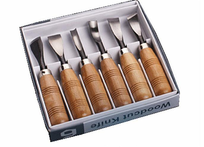 Wood Carving Wood Cut Knife Tool Set  6pcs/set Woodpecker DIY Hand Tools Chisel Set Knives Tool Set Woodworking