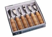 Резьба по дереву набор ножей 6 шт./компл. дятел DIY ручные инструменты набор стамесок инструмент для ножей набор Деревообработка