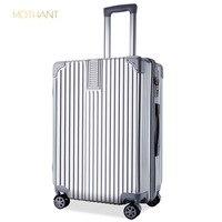 aluminum frame luggage trolley case universal wheel 20, 24, 26 inch suitcase female suitcase retro boarding luxury travel