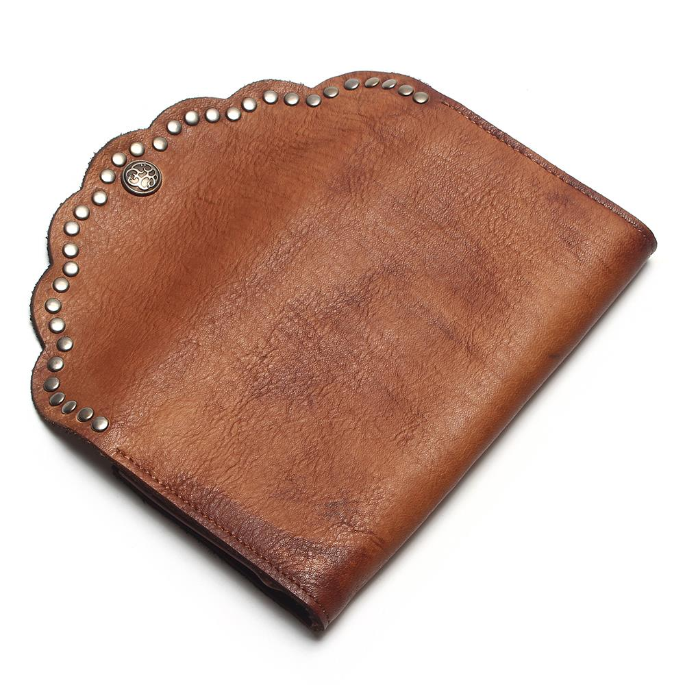 Image 2 - TAUREN Brush Color Clutch Anchor Nail Genuine Leather Women 